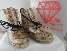 Rock & Candy SeeThru floral boot size 7