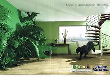 PUBLICITE ADVERTISING 114  2009  DULUX VALENTINE 2   peintures (2p)