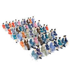 50 Stk. Sitzende Figuren Maßstab 1:32 Modellfiguren Menschen Spur 1 Bemalt