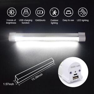 Portable USB Rechargeable UV LED Camping Light Flashlight  Magnetic Cabinet Tube