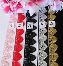 5 colors =  lace trim/ ribbon = selling by the yard /select color/