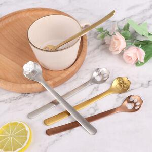 Stainless Steel Cute Cat Shape Coffee Spoons Tea Spoon Stirring Spoons Styl_cd