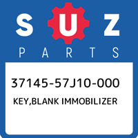 37145-57J10-000 Suzuki Key,blank immobilizer 3714557J10000, New Genuine OEM Part