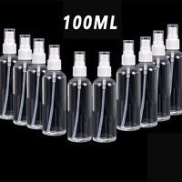 10PCS 100ml Clear Plastic Perfume Empty Spray Bottle Travel Makeup Beauty US