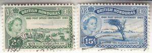 BRITISH HONDURAS 1960. 100 Anniversary of the British-Honduras Post. QEII. Used
