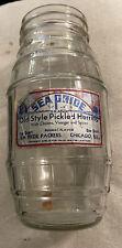 Vintage Sea Pride Old Style Pickle Herring Jar Chicago Illinois Walter Leistikow