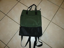 NWOT- DSW Green and Black Backpack Travel Tote