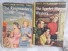 Nancy Drew Mystery Vintage Hardcover The Scarlet Slipper The Ringmasters Secret