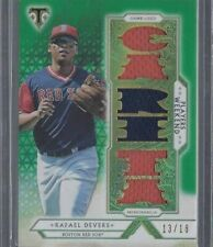 RAFAEL DEVERS 2018 TOPPS TRIPLE THREADS PLAYERS WEEKEND GREEN JERSEY RC #D 13/18