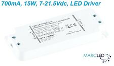700mA 15W 7-21.5VDC LED Driver, Z-LED-15W-700CC-SLIM small size, with mount ears