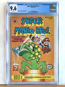 SUPER MARIO BROS. #1 : CGC 9.6 NM+ : 1991 Valiant Comics, Pirahna Round Sue Rare