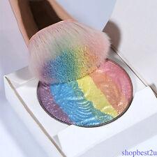 Rainbow Shimmer Eyeshadow Palette Highlighter Blusher Contour Powder Best D8