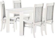 Küchenmöbel weiß Pinie massiv Tisch weiss 120x73+4 Stühle Klass.Esszimmer Kneipe