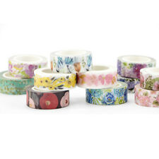 New Diy Floral Washi Sticker Decor Roll Paper Masking Adhesive Tape Craft Gift