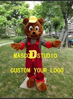 Bear Mascot Costume Cosplay Party Game Dress Unisex Advertising Halloween Adults