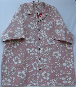 Hilo Hattie men's short sleeve button front cotton Hawaiian/Aloha shirt size 3XL