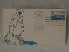 vintage 1/1 cache art signed 1959 FDC envelope First Day Arctic Exploration Bear
