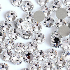 Clear -- 1440 pcs High Quality Flat Back Glass Rhinestones Size SS16 -  USA