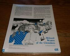 1989 Beloved Woman of the Cherokees by Harold W. Felton Educational Packet Book