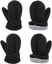 2 Pairs Toddler Mittens Unisex Lined Fleece Gloves Winter Warm kids Mitten for B