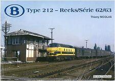 Nicolas Collection 978-2-930748-42-9 libro SNCB Type 212-Reeks/Série 62/63 NUOVO + OVP
