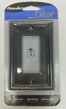 Amerelle Aged Bronze Single Rocker Switch Plate, Stamped Steel