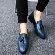 Fashion Mens Weave Tassel Slip on Loafers Casual Dress Smart Driving Party Shoes