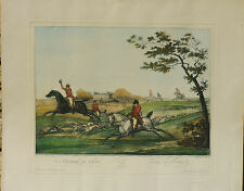 2 aquatintes originales Levachez Vernet Chasse à courre 1810