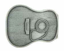 Guitar Body Antique Silver Metal Belt Buckle