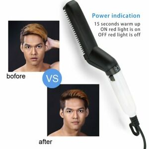 Multifunctional Hair Comb Brush Beard Straightener Quick Hair Styler For Men US