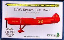 Karaya Models 1/72 L.W. BROWN B-2 RACER