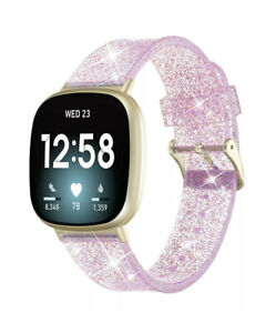 For Fitbit Versa 3 / Sense Replacement Silicone Watch Wrist Band Wristband Pink