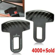 Pair Universal Carbon Fiber Car Safety Seat Belt Buckle Alarm Stopper Clip Clamp