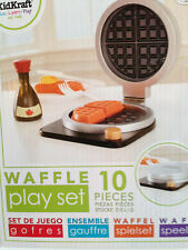 Kidkraft 63348 Kids Espresso Wooden Waffle Maker Set Pretend Play Kitchen Toy