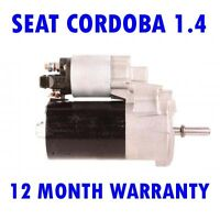 Seat Cordoba 1.4 1.6 1993 1994 1995 1996 1997 1998-2002 Motor de Arranque