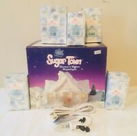 "1994 PRECIOUS MOMENTS Sugar Town ""Doctors Office"" 7 Pc Set  529281 MINT w Boxes"