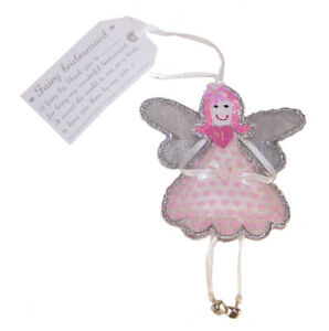 Bridesmaid Free Trade Fairy Pink Gift Present Young Girl Child Wedding
