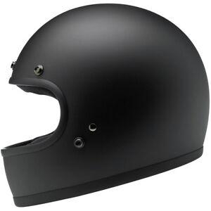 Biltwell Gringo DOT / ECE Motorcycle Helmet - Flat Black - Choose Size