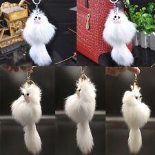 Real Charm Handbag Rabbit Fur Cell Phone Fox Fur Key Ring Key Chain Pendant