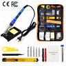 15PC 80W Digital Electric Soldering Iron Kit Adjustable Temperature Welding Tool
