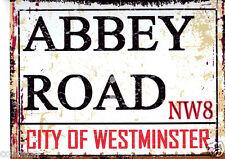 ABBEY ROAD LONDON  STREET SIGN VINTAGE STYLE 8x10in 20x25cm pub bar shop