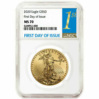 2020 $50 American Gold Eagle 1 oz. NGC MS70 FDI First Label