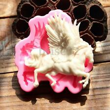 3D Silicone Pegasus Horse Fondant Cake Mould Chocolate Decor Molds Sugarcraft