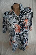 Damen Shirt Bluse  geblümt Viskose  gr 46  gut erhalten