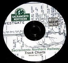 Sacramento Northern Railway 1968 Track Chart Diagram PDF Pages on DVD