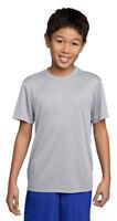 Sport Tek Youth Moisture Wick Short Sleeve Lightweight Polyester T-Shirt. YST350