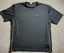 Nike Mens Black T Shirt Adult Large Size Tick Crew Neck Training Shirt Size L