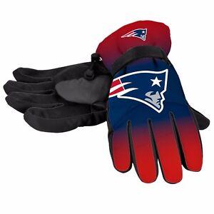 New England Patriots Gloves Big Logo Gradient Insulated Winter Unisex S/M L/XL
