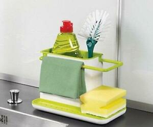 3-in-1 Stand for Kitchen Sink Organizer Dispenser Dishwasher Liquid Free Ship