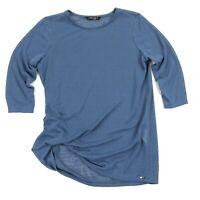 Lisette Women's Emma Jersey Top Shirt Blue Scrunch • Medium
